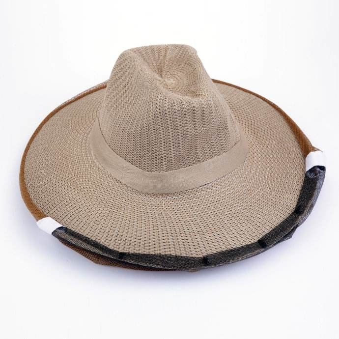 Cowboy Style Brown Color Bee Hats for Beekeepers of Free Size