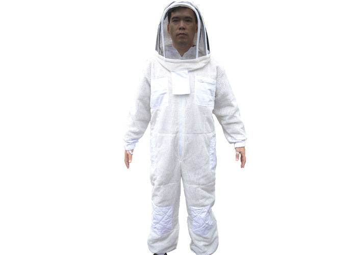 Three Layer vantilated beekeeping suit with white color